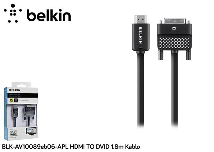 Belkin BLK-AV10089eb06-APL HDMI TO DVID 1.8m Kablo