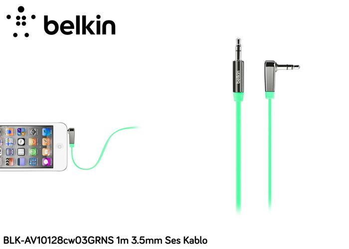 Belkin BLK-AV10128cw03GRNS 1m 3.5mm Ses Kablo