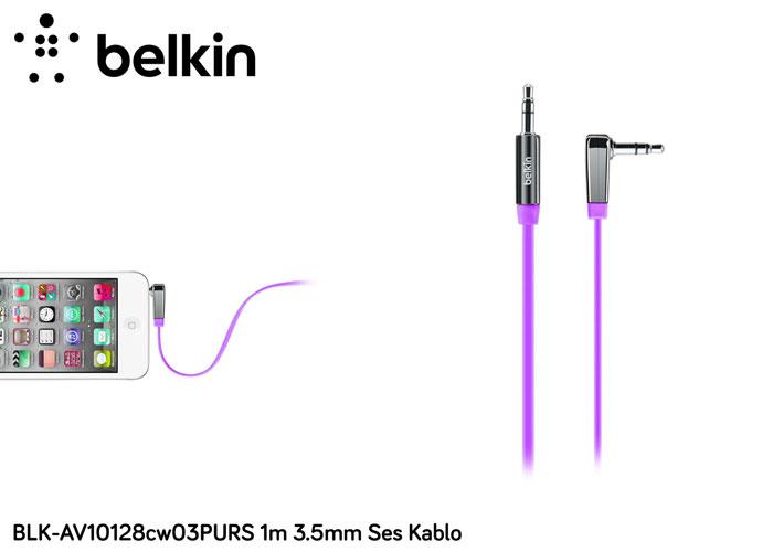 Belkin BLK-AV10128cw03PURS 1m 3.5mm Ses Kablo