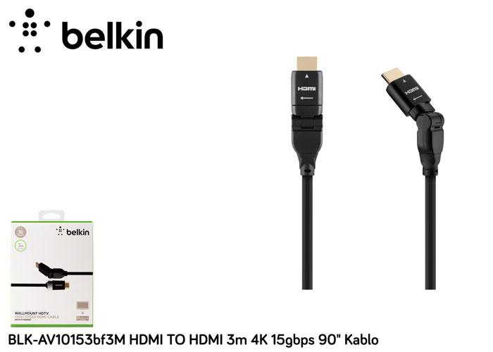 Belkin BLK-AV10153bf3M HDMI TO HDMI 3m 4K 15gbps 90 Kablo