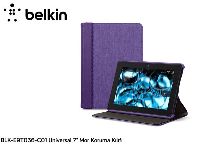 Belkin BLK-E9T036-C01 Samsung Tab3 7.1 Mor Stand / Kapak