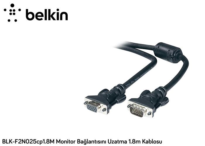 Belkin BLK-F2N025cp3M Monitor Bağlantısını Uzatma 3m Kablosu