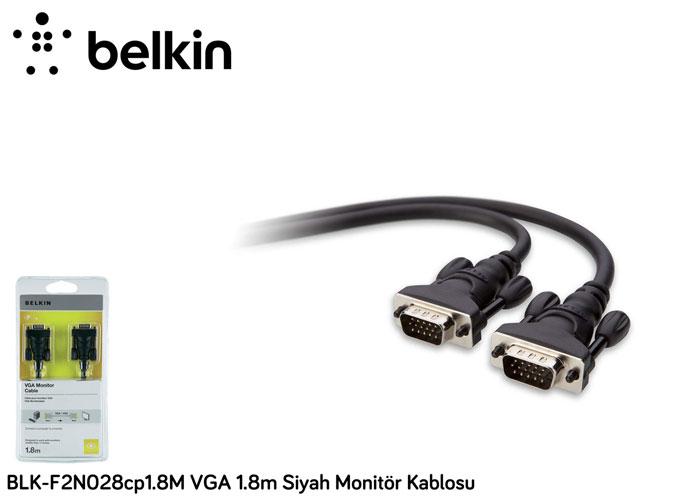 Belkin BLK-F2N028cp1.8M VGA 1.8m Siyah Monitör Kablosu