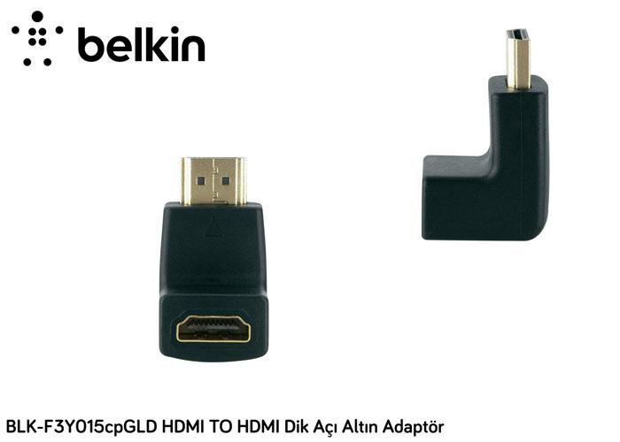 Belkin BLK-F3Y015cpGLD HDMI TO HDMI Dik Açı Altın Adaptör