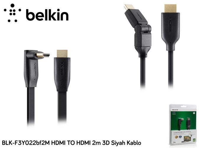 Belkin BLK-F3Y022bf2M HDMI TO HDMI 2m 3D Siyah Kablo