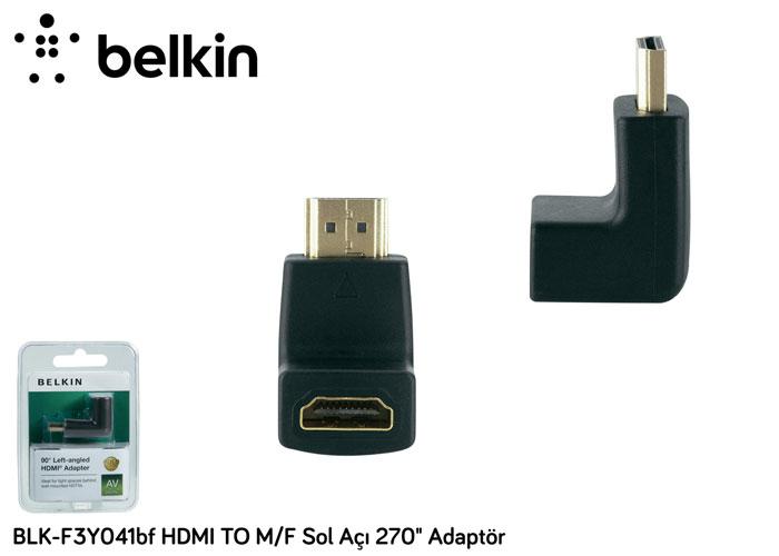 Belkin BLK-F3Y041bf HDMI TO M/F Sol Açı 270 Adaptör