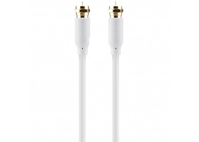 Belkin BLK-F3Y071bf5M-WHT Beyaz 5m C,SATELLITE,FTYPE,M/M,110dB Anten Kablosu
