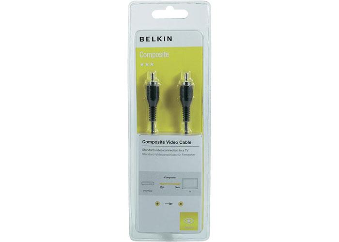 Belkin BLK-F3Y085BF2M 2m RCA M/M Composite Video Metal Kablo