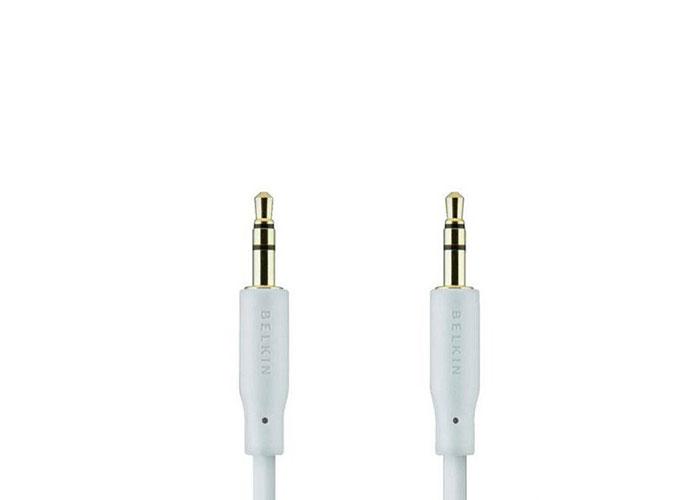 Belkin BLK-F3Y117bf2M-WHT 2m 3.5mm Ses M/M Taşınabilir Altı Kablo