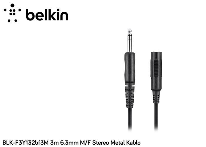 Belkin BLK-F3Y132bf3M 3m 6.3mm M/F Stereo Metal Kablo