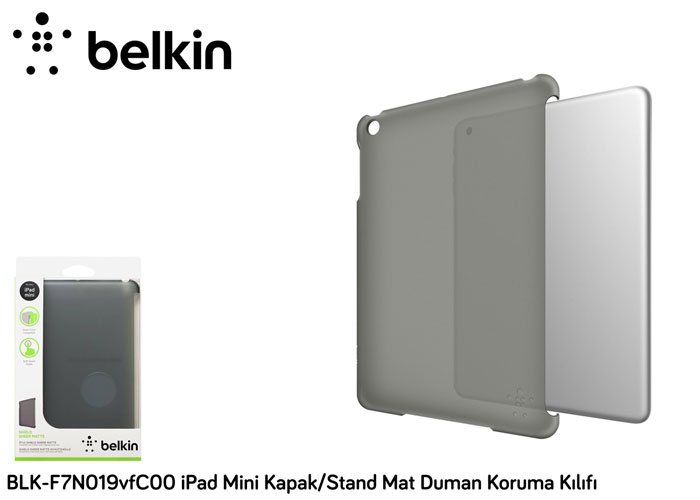 Belkin BLK-F7N019vfC00 iPad Mini Cover / Stand Matte Smoke Protection Case Cover