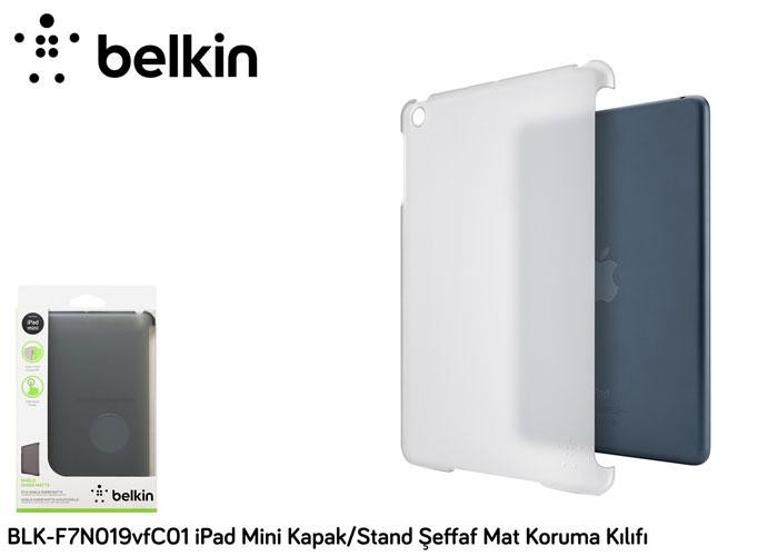Belkin BLK-F7N019vfC01 iPad Mini Kapak/Stand Şeffaf Mat Koruma Kılıfı