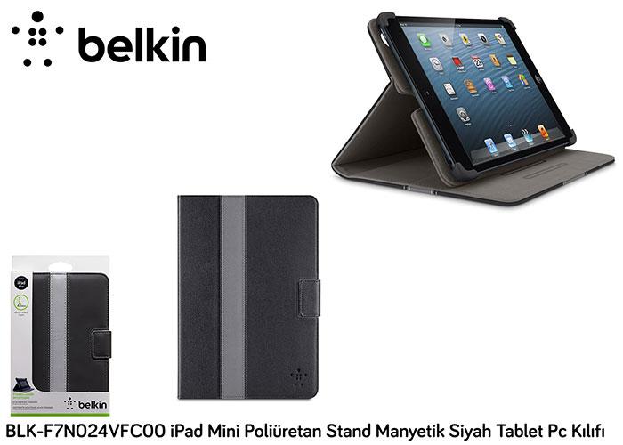 Belkin BLK-F7N024VFC00 iPad Mini Poliüretan Stand Man Siyah Tablet Pc Kılıfı