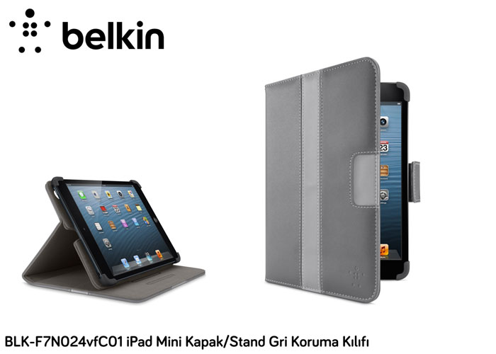 Belkin BLK-F7N024vfC01 iPad Mini Cover / Stand Gray Protection Case