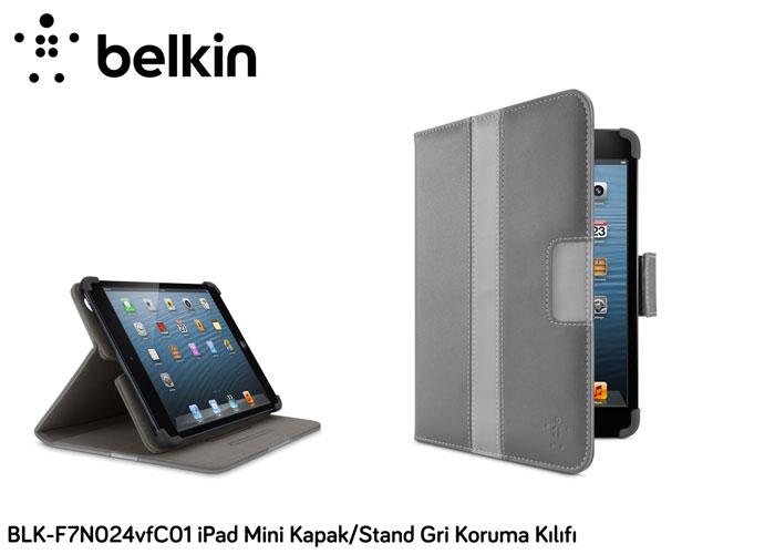 Belkin BLK-F7N024vfC01 iPad Mini Kapak/Stand Gri Koruma Kılıfı