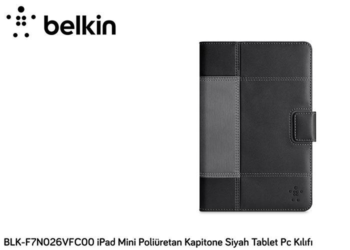 Belkin BLK-F7N026VFC00 iPad Mini Poliüretan Kapitone Siyah Tablet Pc Kılıfı