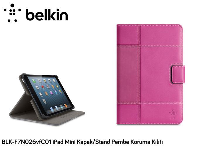 Belkin BLK-F7N026vfC01 iPad Mini Kapak/Stand Pembe Koruma Kılıfı