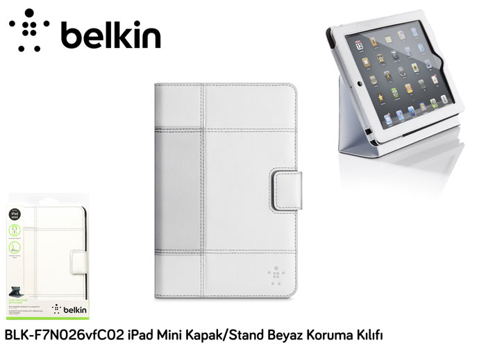 Belkin BLK-F7N026vfC02 iPad Mini Cover / Stand White Protection Case Cover