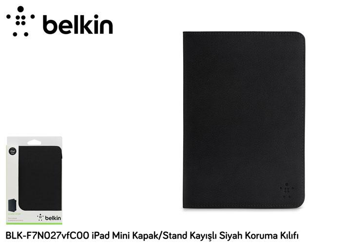 Belkin BLK-F7N027vfC00 iPad Mini Kapak/Stand Kayışlı Siyah Koruma Kılıfı