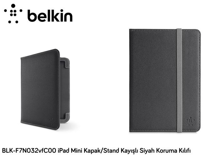 Belkin BLK-F7N032vfC00 iPad Mini Kapak/Stand Kayışlı Siyah Koruma Kılıfı