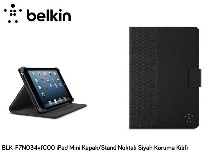 Belkin BLK-F7N034vfC00 iPad Mini Kapak/Stand Noktalı Siyah Koruma Kılıfı