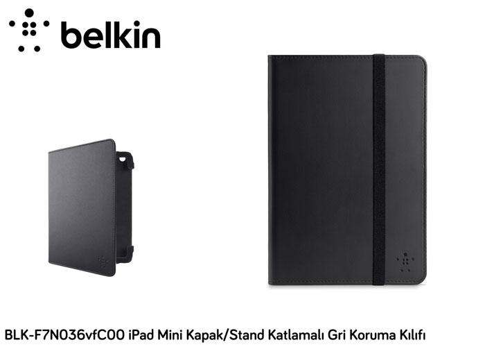 Belkin BLK-F7N036vfC00 iPad Mini Cover / Stand Folded Gray Protection Case