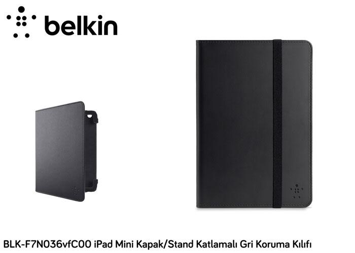 Belkin BLK-F7N036vfC00 iPad Mini Kapak/Stand Katlamal Gri Koruma Kılıfı