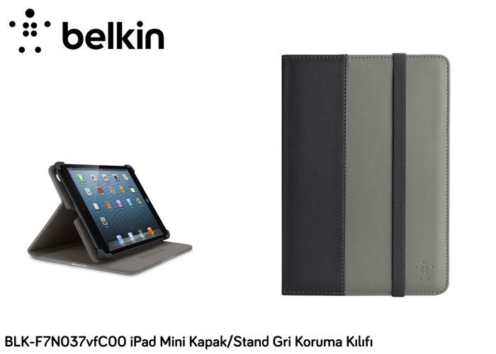 Belkin BLK-F7N037vfC00 iPad Mini Kapak/Stand Gri Koruma Kılıfı