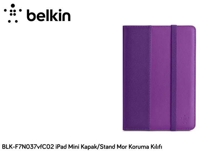 Belkin BLK-F7N037vfC02 iPad Mini Kapak/Stand Mor Koruma Kılıfı