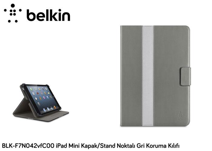 Belkin BLK-F7N042vfC00 iPad Mini Kapak/Stand Noktalı Gri Koruma Kılıfı