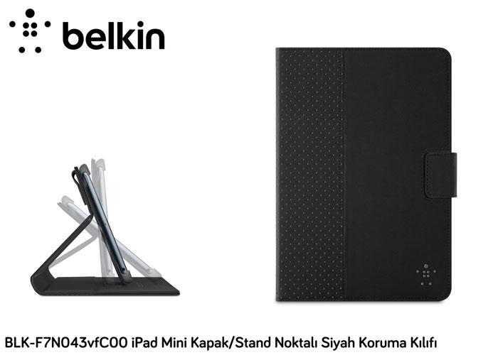 Belkin BLK-F7N043vfC00 iPad Mini Kapak/Stand Noktalı Siyah Koruma Kılıfı