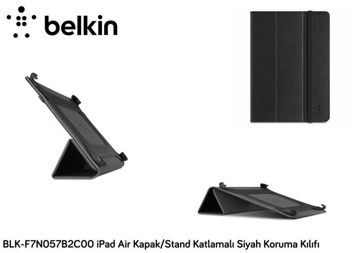 Belkin BLK-F7N057B2C00 iPad Air Kapak/Stand Katlamalı Siyah Koruma Kılıfı