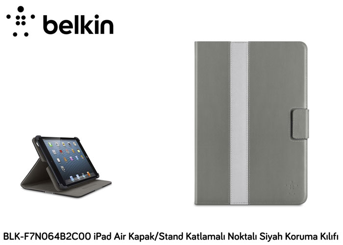Belkin BLK-F7N064B2C00 iPad Air Cover / Stand Folded Black Protection Case