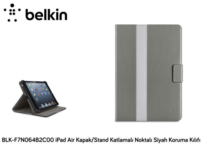 Belkin BLK-F7N064B2C00 iPad Air Kapak/Stand Katlamalı Siyah Koruma Kılıfı