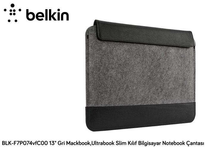 Belkin BLK-F7P074vfC00 13 Gri Mackbook,Ultrabook Slim Kılıf Bilgisayar Notebook Çantası