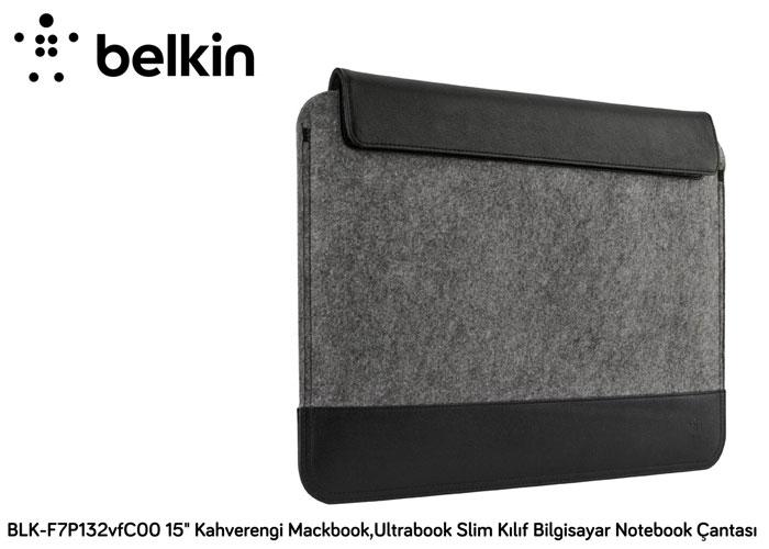 Belkin BLK-F7P132vfC00 15 Gri Mackbook,Ultrabook Slim Kılıf Bilgisayar Notebook Çantası