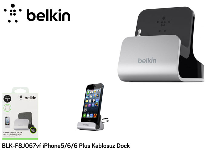 Belkin BLK-F8J057vf iPhone5/6/6 Plus Kablosuz Dock