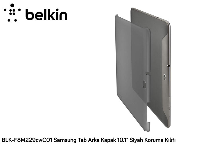 Belkin BLK-F8M229cwC01 Samsung Tab Arka Kapak 10.1 Siyah Koruma Kılıfı