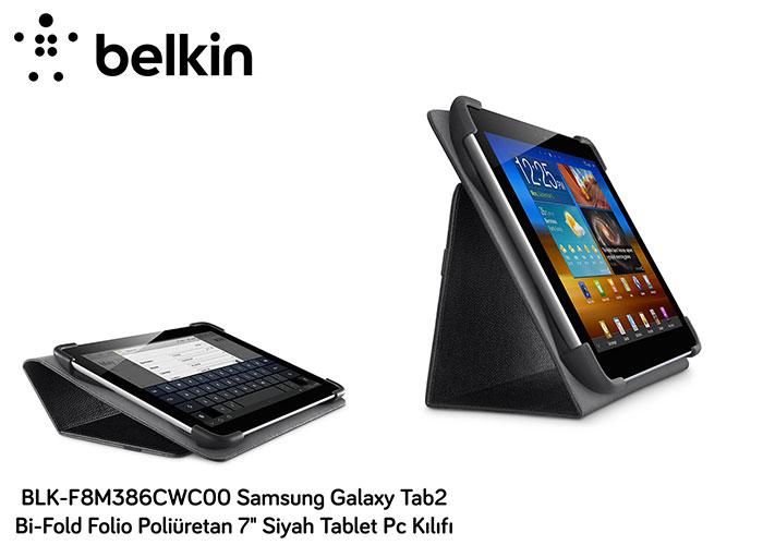 Belkin BLK-F8M386CWC00 Samsung Galaxy Tab2 Bi-Fold Fo 7 Siyah Tablet Pc Kılıfı