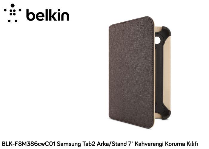 Belkin BLK-F8M386cwC01 Samsung Tab/Tab2 Seri 7 Kahverengi Kapak/Koruma Kılıfı