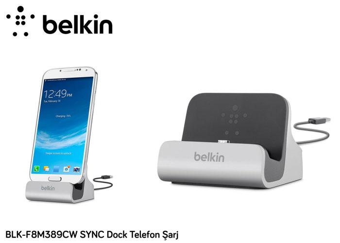 Belkin BLK-F8M389CW SYNC Dock Telefon Şarj