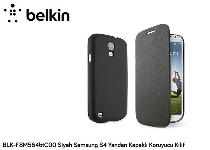 Belkin BLK-F8M564btC00 Siyah Samsung S4 Yandan Kapaklı Koruyucu Kılıf
