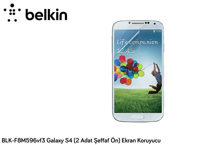Belkin BLK-F8M596vf3 Galaxy S4 (2 Adat Şeffaf Ön) Ekran Koruyucu