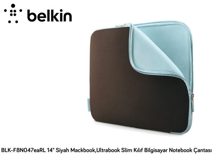 Belkin BLK-F8N047eaRL 14 Kahverengi Mackbook,Ultrabook Slim Kılıf Bilgisayar Notebook Çantası