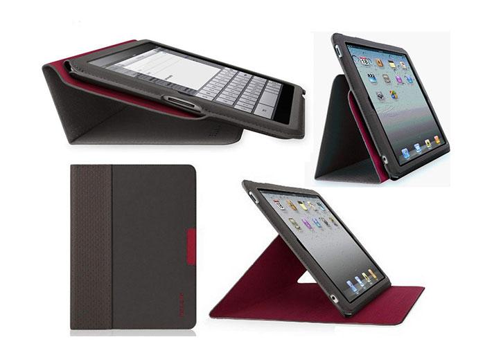 Belkin BLK-F8N605cwC01 iPad2 Stand /Koruma Kılıfı Borda/Siyah Ultra Thin
