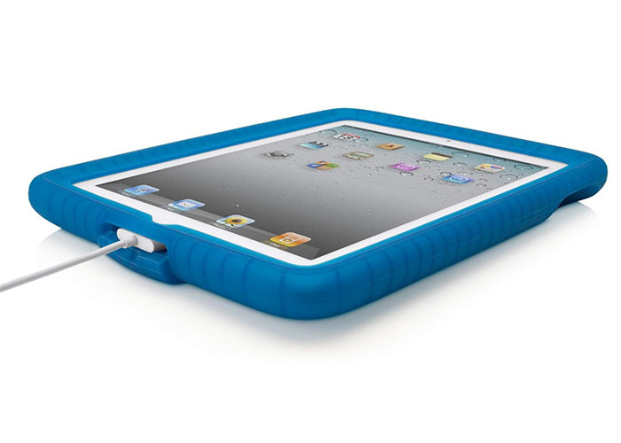 Belkin BLK-F8N611cwC01 iPad2G Kabarcıklı Silikan Şal Mavi Koruma Kılıfı