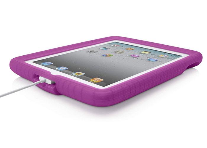 Belkin BLK-F8N611cwC03 iPad2G Kabarcıklı Silikan Şal Mor Koruma Kılıfı