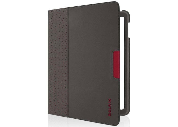 Belkin BLK-F8N613CWC01 iPad-2 Verve Folıo Siyah/Kırmızı Tablet Pc Kılıfı