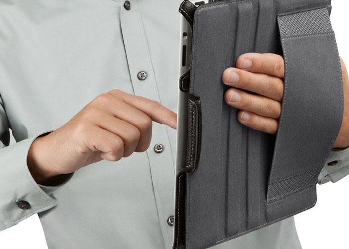Belkin BLK-F8N647CWC00 iPad-2 Snap Folıo Autowake Siyah/Suni Deri Tablet Pc Kılıfı