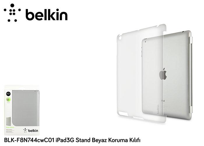 Belkin BLK-F8N744cwC01 iPad3G Stand Beyaz Koruma Kılıfı